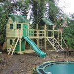 Forest mega combo playhouse climbing frame