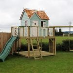 Damson Playhouse climbing frame lower deck