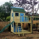 Forest mega playhouse climbing frame
