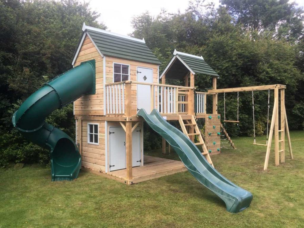 Forest Mega Combo Playhouse Climbing Frame