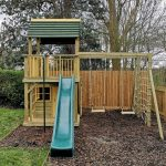 Clubhouse playhouse climbing frame with roof