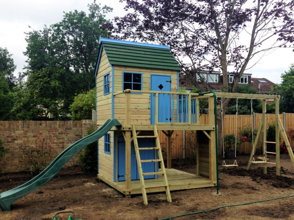 Forest Mega wooden playhouse climbing frame